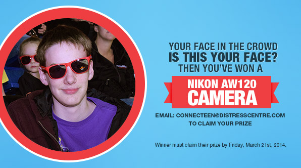 #FaceInTheCrowd Winner of a Nikon AW120